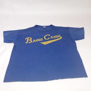 90s vintage Brew crew Tshirt  single stitch USA XL